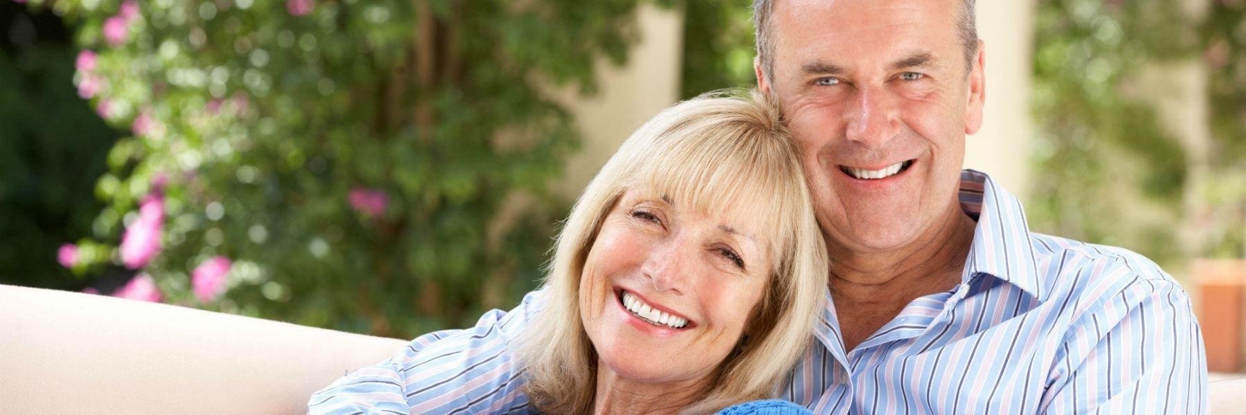 Older couple smiling | Dentist Greeley CO
