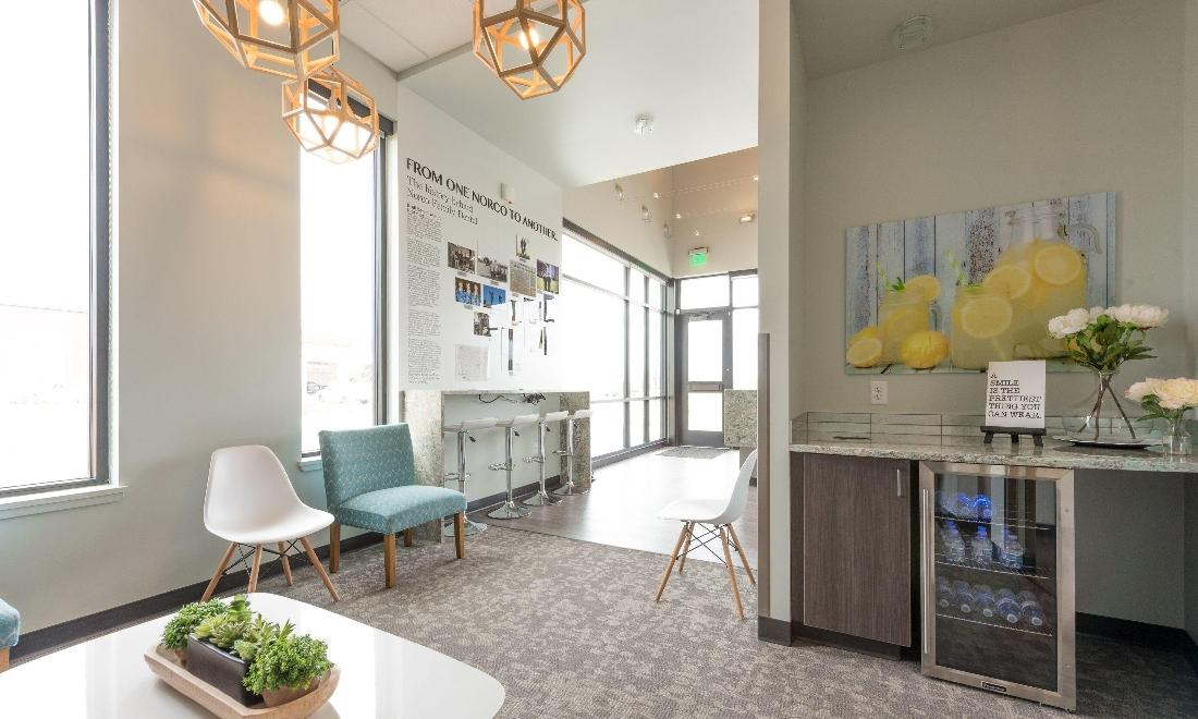 Dental patient waiting area at our 80634 dentist office
