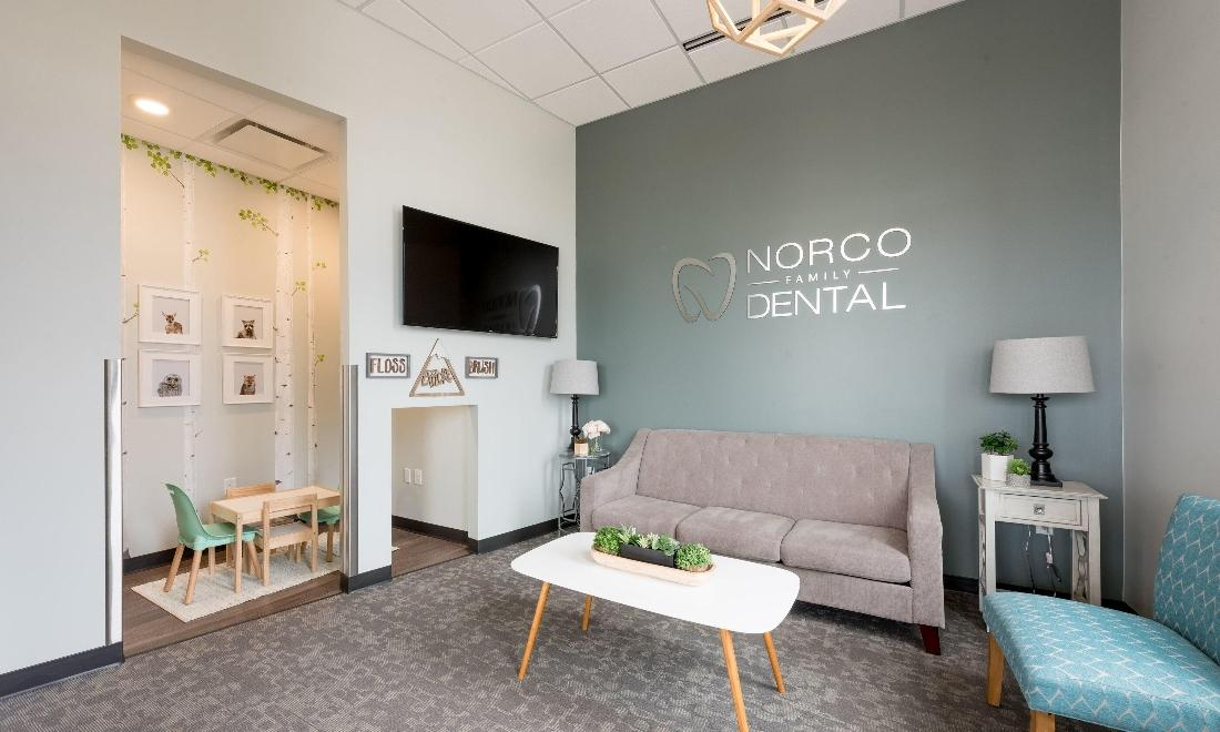 Dental patient waiting area at Norco Family Dental in Greeley, CO