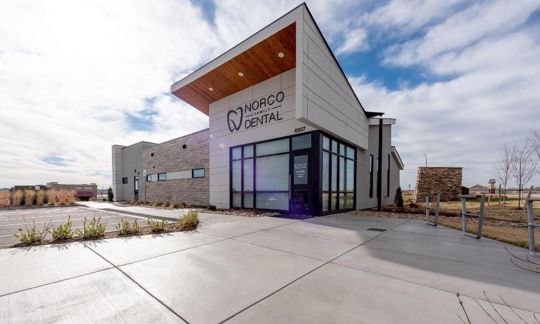 Exterior of Norco Family Dental building in Greeley, CO